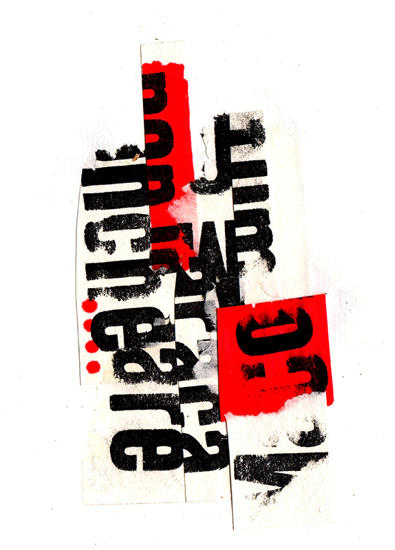 M y R en negro y rojo